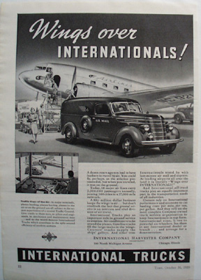 International Trucks Wings Over Ad 1939