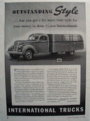 International Trucks Outstanding Style Ad 1939
