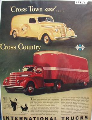 International Trucks Cross Town Ad 1940