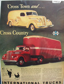 International Trucks Cross Town Ad 1940