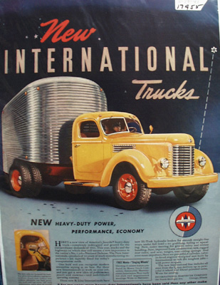 International Truck Heavy Duty Power Ad 1941