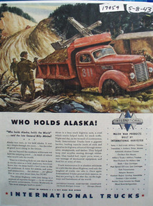 International Who Holds Alaska Ad 1943