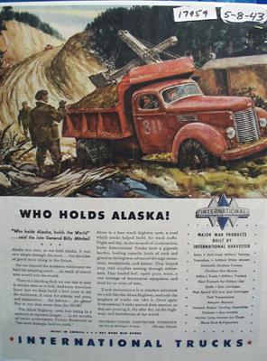 International Who Holds Alaska Ad 1943