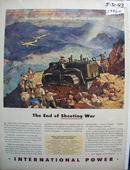 International End of Shooting War Ad 1943