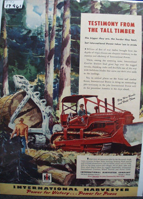 International Tall Timber Ad 1943