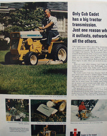 International Cub Cadet Outworks Others Ad 1969