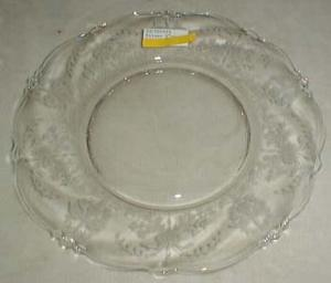 Heisey Orchid Salad Plate in Crystal