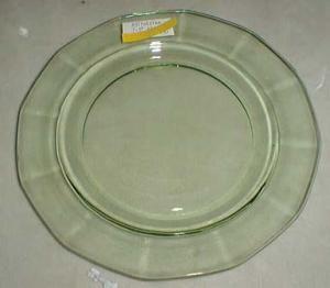 Fostoria Fairfax Salad Plate, Green