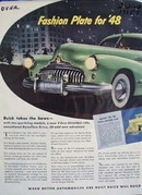 Buick fashion plate for 48. Ad was published 2/2/48.