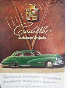 Cadillac unchallenged for quality. Ad was published 6/3/46