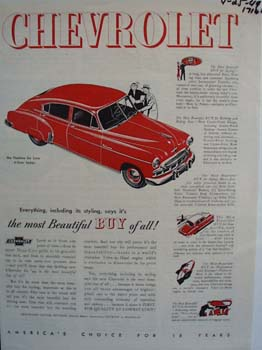 Chevrolet the most beautiful buy of all. Ad