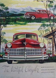 The beautiful Chrysler. Ad was published 5/20/46