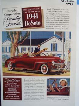 The newest new 1941 DeSoto. Ad