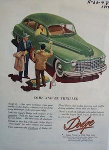 Dodge come and be thrilled. Ad was published 2/9/48.