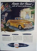 Fords out front with all round performance. Ad was published 3/17/47.
