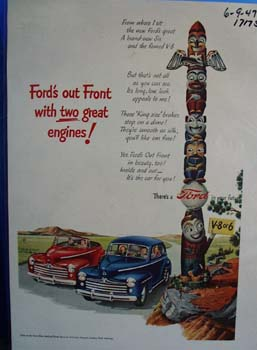 Fords out front with two great engines. Ad
