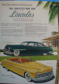 Lincoln fine cars without a compromise. Ad