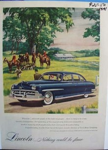Lincoln nothing could be finer. Ad was published 9/25/50