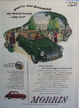 Morris worlds biggest smaller-car buy. Ad