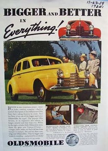 Oldsmobile bigger and better in everything. Ad