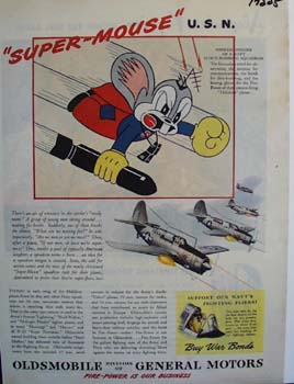 Oldsmobile Super-Mouse U.S.N. Ad