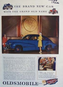 Oldsmobile brand new car with the grand old name. Ad