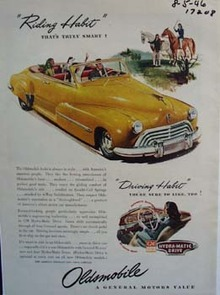 Oldsmobile habit is always in style. Ad