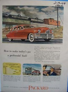 Packard how to make todays gas a performin fuel. Ad