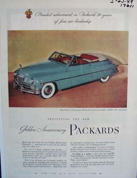 Packards 50 years of fine car leadership. Ad