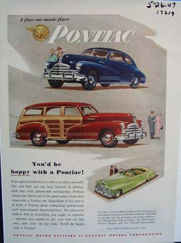Pontiac a car youd  happy to own. Ad