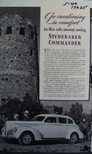 Studebaker Commander go vacationing in comfort. Ad