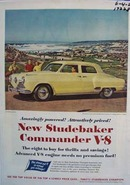 Studebaker Commander amazingly powerful and attractively priced. Ad