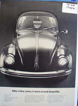Vokswagon Beetle after a few years,ad