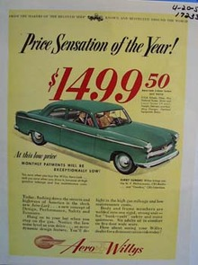 Aero-Lark price sensation of the year. Ad