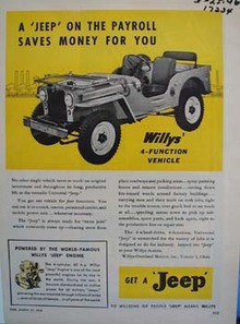 Jeep on the payroll saves money for you. Ad