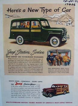 Jeep Station Sedan a new type of car. Ad