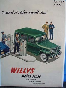 Willys makes sense and it rides swell, too. Ad