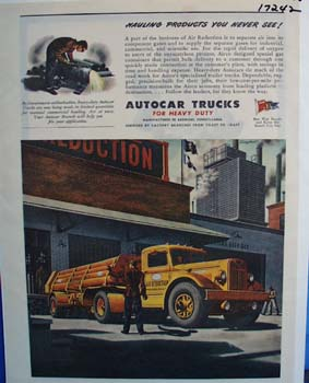 Autocar trucks haul products you never see. Ad