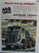 Autocar trucks famous for heavy-duty hauling. Ad