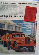 Autocar trucks command the load. Ad