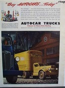 Autocar trucks famous for heavy-duty hauling. Ad