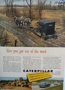 Caterpillar how you get out of the mud. Ad was published 11/20/50.