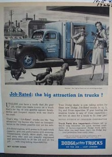 Dodge the big attraction in trucks. Ad