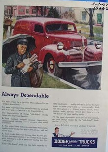 Dodge always dependable. Ad