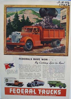 Federal trucks know in every country ad