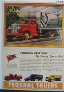 Federal trucks handle the tough jobs. Ad