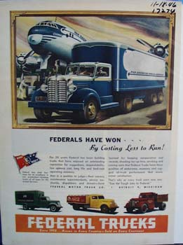 Federal trucks demand the tough jobs. Ad