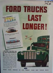 Ford trucks last longer. Ad