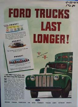 Ford trucks last longer. Ad