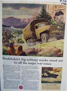 Stubaker trucks standout in war zones. Ad